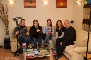 Nach getaner Arbeit, von links nach rechts: Martin Röder, Marius Kurek, Julia Lengert, Claudia und ich