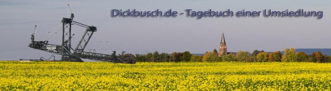 Dickbusch - Tagebuch der Umsiedlung von Kerpen-Manheim
